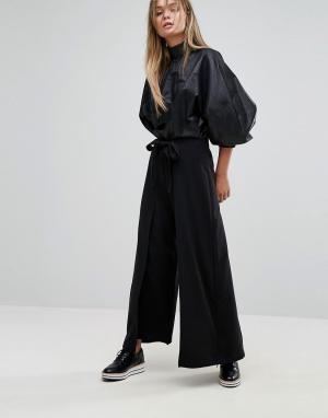 Selected Укороченные брюки. Цвет: черный