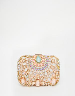 Vintage Styler Клатч с отделкой камнями. Цвет: мульти