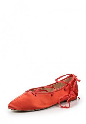 Балетки Mango. Цвет: красный