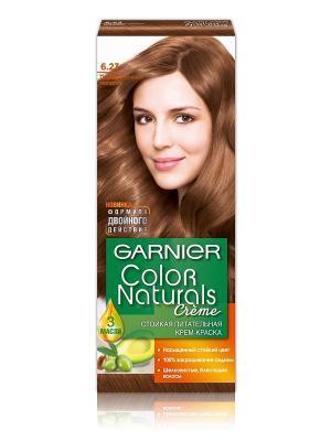 Стойкая питательная крем-краска для волос Color Naturals, оттенок 6.23, Перламутровый миндаль Garnier. Цвет: коричневый