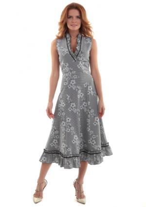 Платье MY STYLE. Цвет: черно-белый