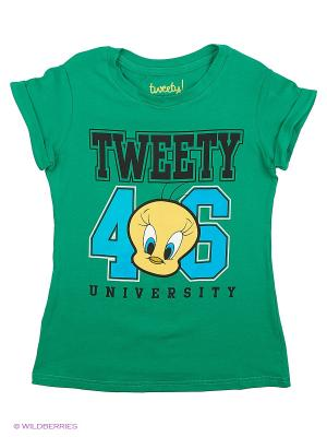 Футболка Tweety. Цвет: зеленый