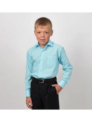 Рубашка  для мальчика HERDAL. Цвет: бирюзовый