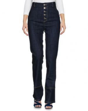 Джинсовые брюки VIRNA DRÒ®. Цвет: синий