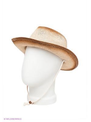 Шляпа Maxval. Цвет: светло-бежевый, темно-коричневый