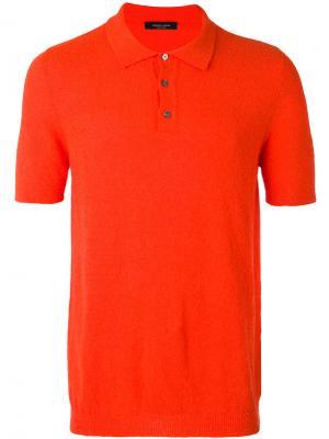 Классическая футболка-поло Roberto Collina. Цвет: красный