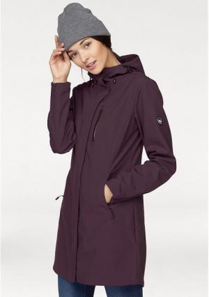 Пальто Softshell POLARINO. Цвет: цвет баклажана, черный