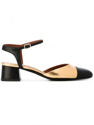 Туфли на каблуках-столбиках Michel Vivien. Цвет: чёрный