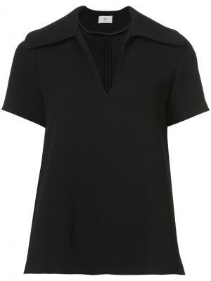 Расклешенная блузка с короткими рукавами Co. Цвет: чёрный