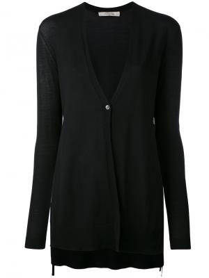 Slit sides V-neck cardigan Dorothee Schumacher. Цвет: синий