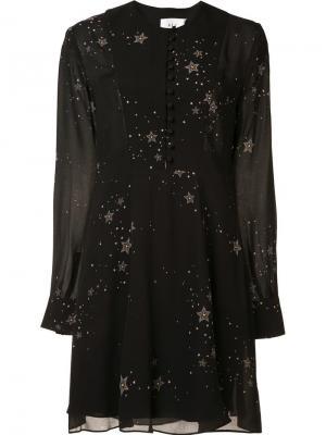 Платье с принтом звезд A.L.C.. Цвет: чёрный