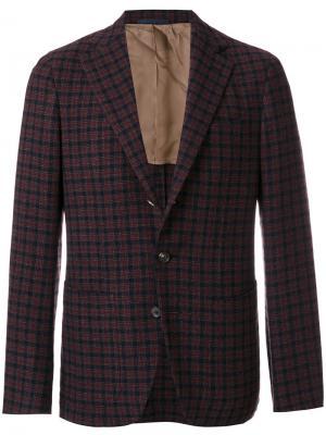 Клетчатый пиджак Caruso. Цвет: синий