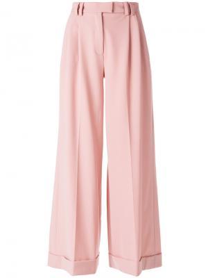 Широкие брюки Vivetta. Цвет: розовый и фиолетовый