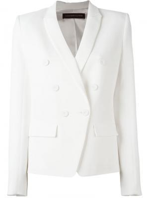 Двубортный пиджак Alexandre Vauthier. Цвет: белый