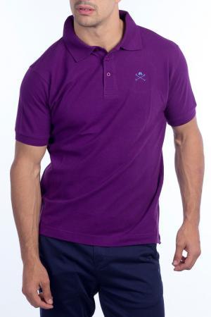 Футболка-поло POLO CLUB С.H.A.. Цвет: purple