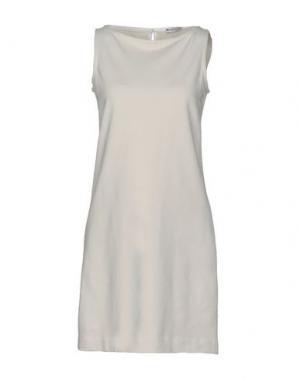 Короткое платье CIRCOLO 1901. Цвет: бежевый