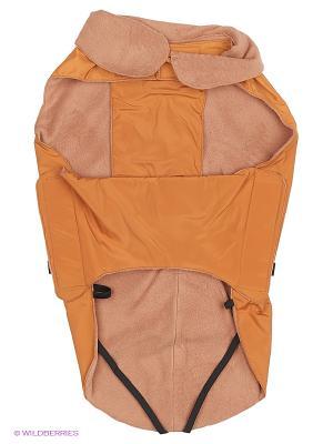 Попона демисезонная (спина 65 см.) с фиксаторами на задних лапах, спине, животе липучки ТУЗИК. Цвет: золотистый