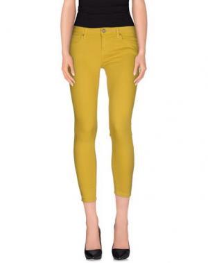 Джинсовые брюки BLAUER. Цвет: желтый