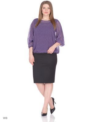 Блузка BARTELLI. Цвет: синий, фиолетовый