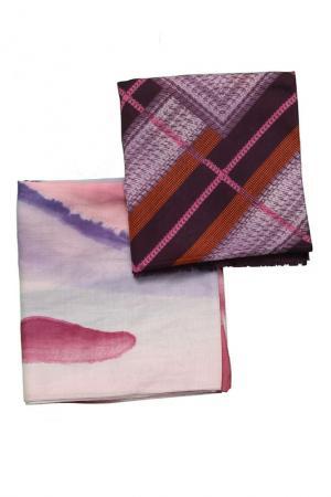 Набор шарфов 2 шт. Frantelli. Цвет: фиолетовый, розовый