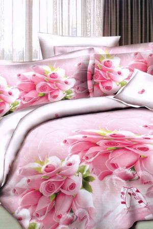 Постельное белье 1,5 сп. 70x70 Patrizia. Цвет: розовый