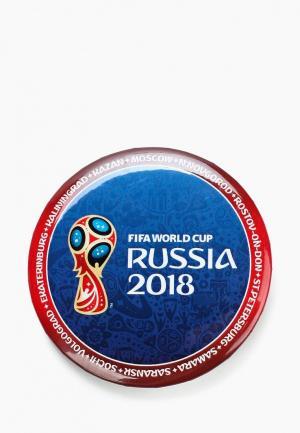 Значок 2018 FIFA World Cup Russia™. Цвет: синий