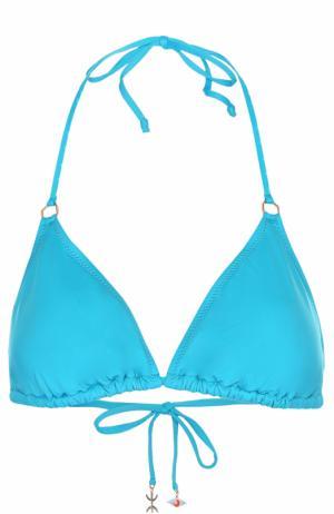 Треугольный бра с декоративной отделкой Lazul. Цвет: голубой