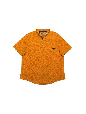 Футболка-поло Pilota. Цвет: оранжевый