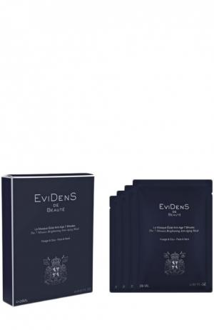 7-минутная маска для сияния кожи (4 шт.) EviDenS de Beaute. Цвет: бесцветный