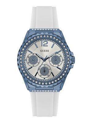 Часы GUESS. Цвет: серо-голубой,белый