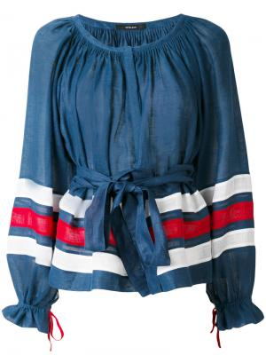 Полосатая блузка Vita Kin. Цвет: синий