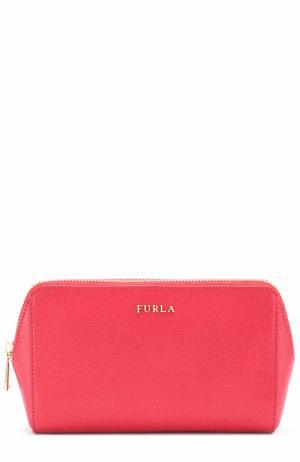 Кожаная косметичка Furla. Цвет: красный