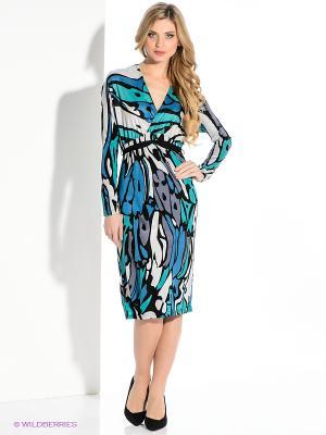 Платье Levall. Цвет: голубой, черный, зеленый, серый