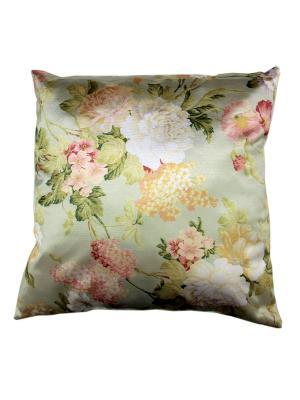 Декоративная подушка Naturel. Цвет: салатовый, розовый