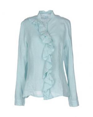 Pубашка 120% LINO. Цвет: небесно-голубой