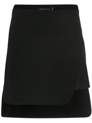 Asymmetric skirt Gloria Coelho. Цвет: чёрный