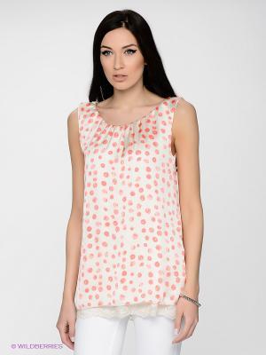 Блузка LUIGI FERRO. Цвет: молочный, розовый