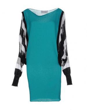 Короткое платье PAOLO ERRICO. Цвет: зеленый