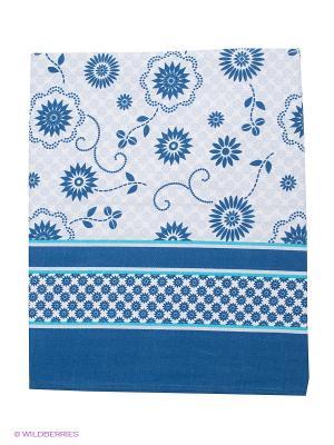 Скатерть LA CASA DELLE COSE. Цвет: белый, темно-синий