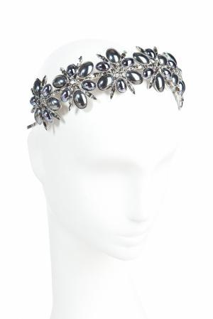 Диадема из кристаллов Louis Mariette. Цвет: серебряный, темно-серый