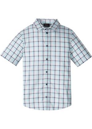 Рубашка в клетку (белый клетку) bonprix. Цвет: белый в клетку