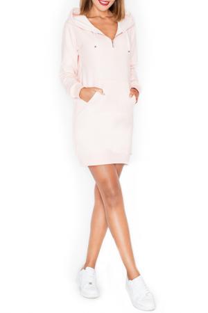 Спортивное платье KATRUS. Цвет: розовый