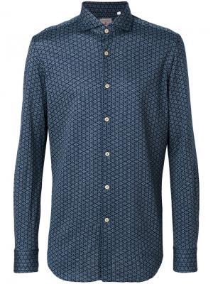 Рубашка с принтом Xacus. Цвет: синий