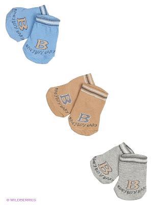 Носки, 3 пары Malerba. Цвет: коричневый