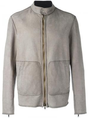 Куртка на молнии Salvatore Santoro. Цвет: серый
