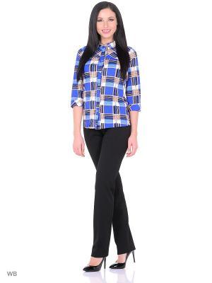 Рубашка Magwear. Цвет: синий