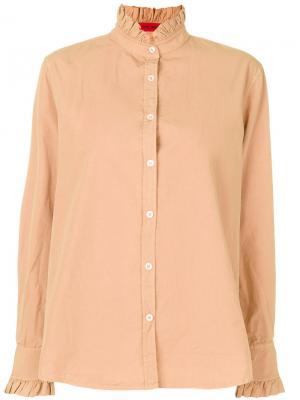 Рубашка с оборками The Gigi. Цвет: коричневый
