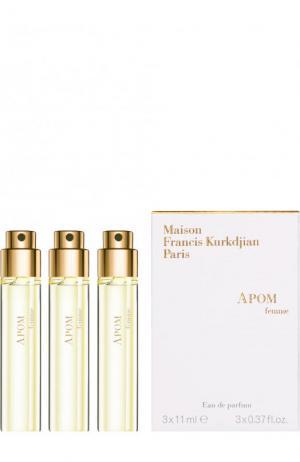 Парфюмерная вода Apom refills Maison Francis Kurkdjian. Цвет: бесцветный