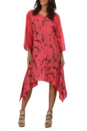 Платье Lin nature. Цвет: красный