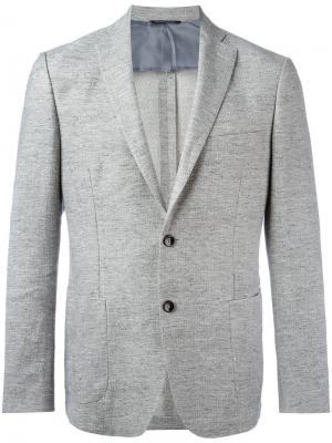 Пиджак с накладными карманами Tonello. Цвет: серый